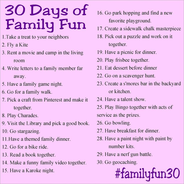 Create memories and lots of family fun with your family this year by taking part in the 30 Days of Family Fun challenge.  Do one fun activity each day in April and share on Instagram for a month of memories that will last a lifetime.