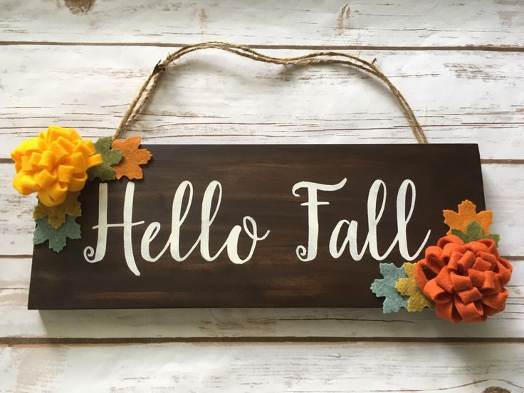 Fall autumn wooden sign Hello Fall sign decor Rustic fall door decoration Floral fall sign Thanksgiving autumn equinox autumn wreath by designbyGeja on Etsy https://www.etsy.com/listing/474697639/fall-autumn-wooden-sign-hello-fall-sign