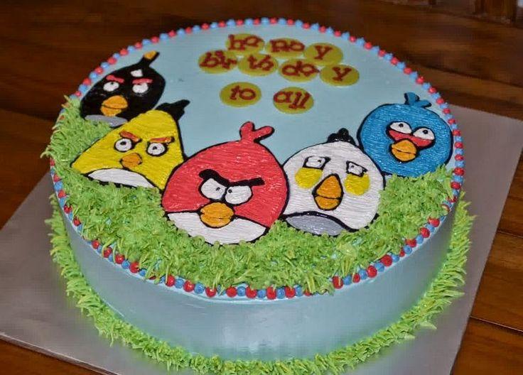 Resep Kue Ulang Tahun Angry Bird Praktis Dirumah http://dapursaja.blogspot.com/2014/12/resep-kue-ulang-tahun-angry-bird.html