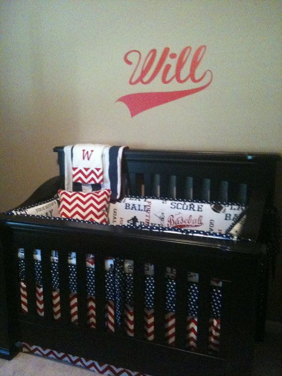 Baseball Themed Baby Crib Bedding