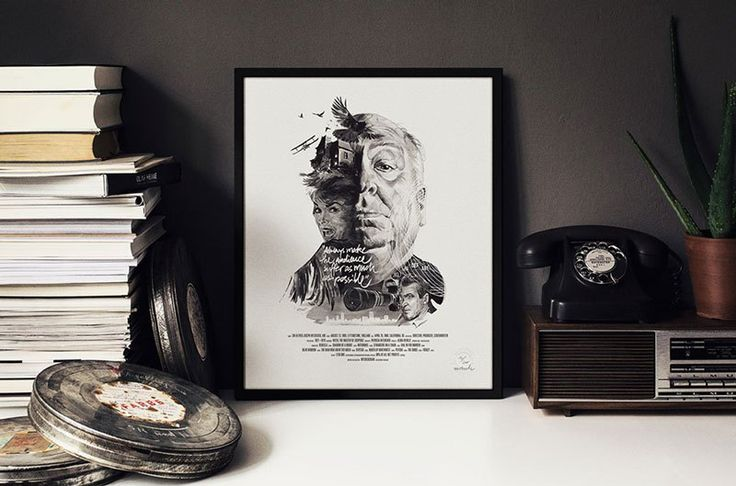 Portraits of famous movie directors by Stellavie
