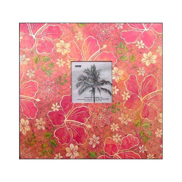 Pioneer Scrapbook 12x12 Tropical Frame Hibiscus