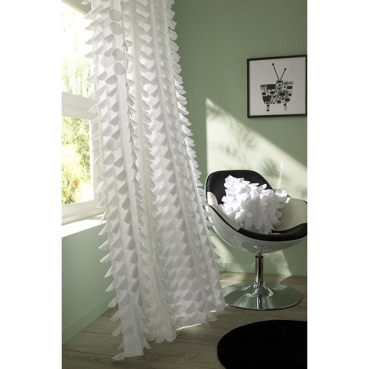 Rideau Pastilles, blanc, 140 x 260 cm