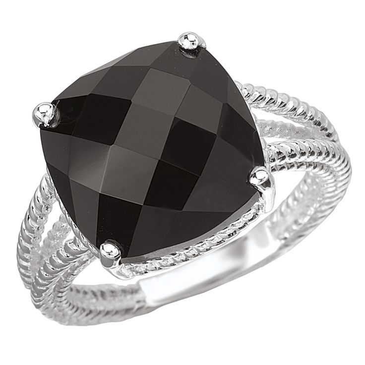 Avanti Sterling SIlver and Onyx Ring