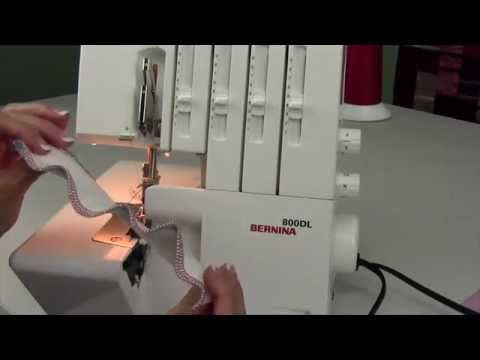 Bernina 800DL Serger 9 Differential Feed - YouTube