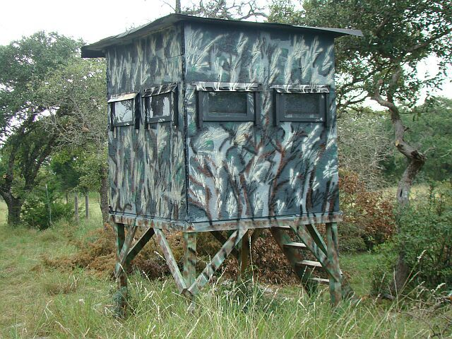 Cool Paint Job On Your Box Blind Deer Stand Deer