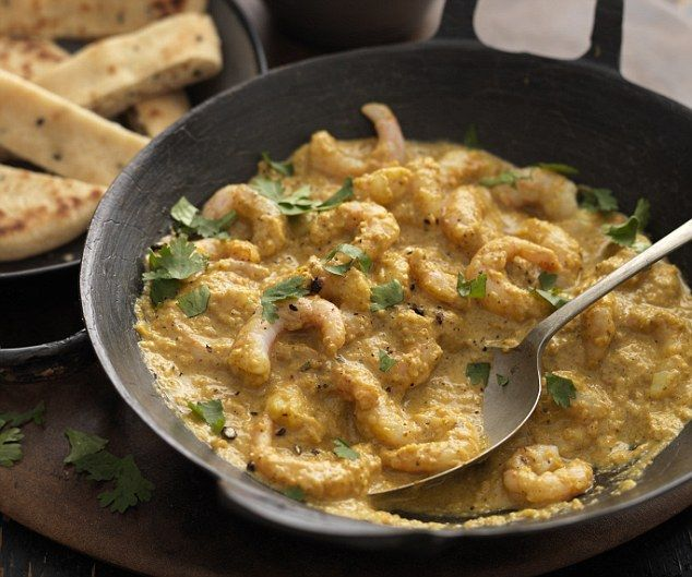 A brilliant way of making a really creamy but low-calorie curry with either prawn, chicken or white fish