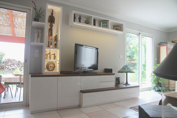 1000 ideas about meuble tv hifi on pinterest meuble tv for Salon vintage lorient