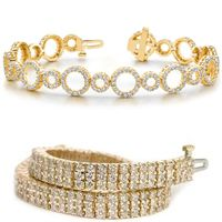 Wählen Sie in dieser Kategorie Ihr Gelbgold Diamant Armband aus.      In dieser Kategorie bieten wir Ihnen Diamant Armband Modelle aus 417er (10K), 585er (14K) und 750er (18K) Gelbgold an.     Einige dieser Diamant Armband Gelbgold Modelle können Sie auch in Weißgold erhalten.