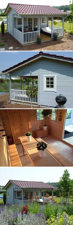 Das Dach als Highlight Ein Gartenhaus mit Dachpfannen