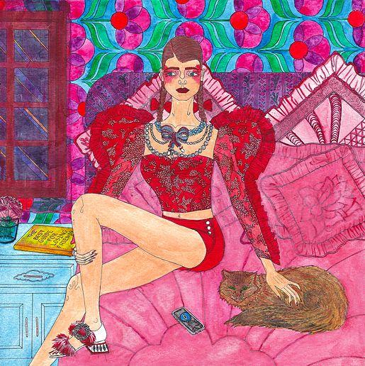 "Foteini Traka | Illustration | ""The best guide for losing friends"" | #Rodarte #MiuMiu #Gucci #Courrèges #Edun"