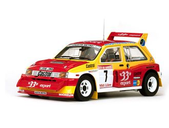 MG Metro 6R4 (Didier Auriol - Champion de France 1986) in Red and Yellow (1:18 scale by Sun Star 5532)