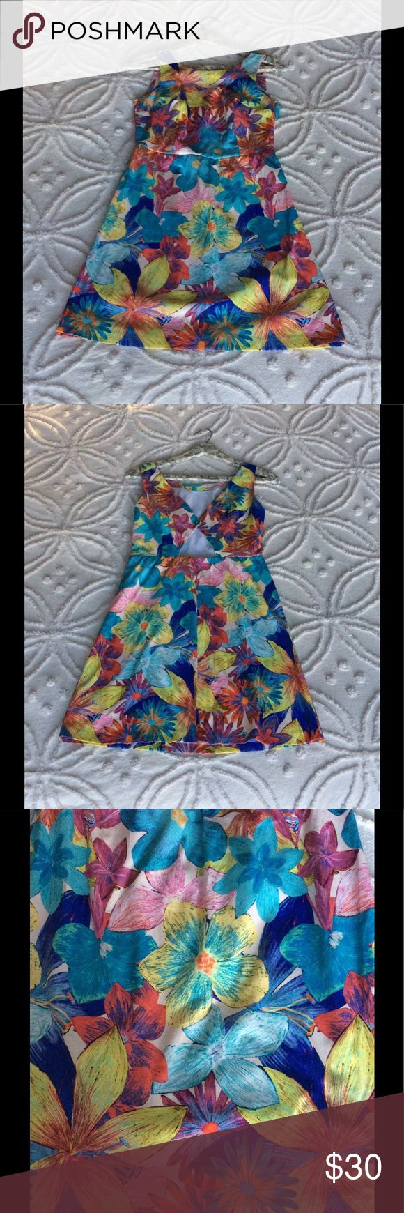 Zara flower dress (size M) Beautiful Zara dress, open in the back, made in Brazil. Soft flower pattern fabric. Size medium. Zara Dresses Mini