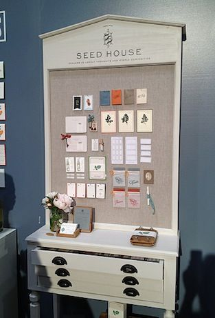 seed house booth - great stationery show display