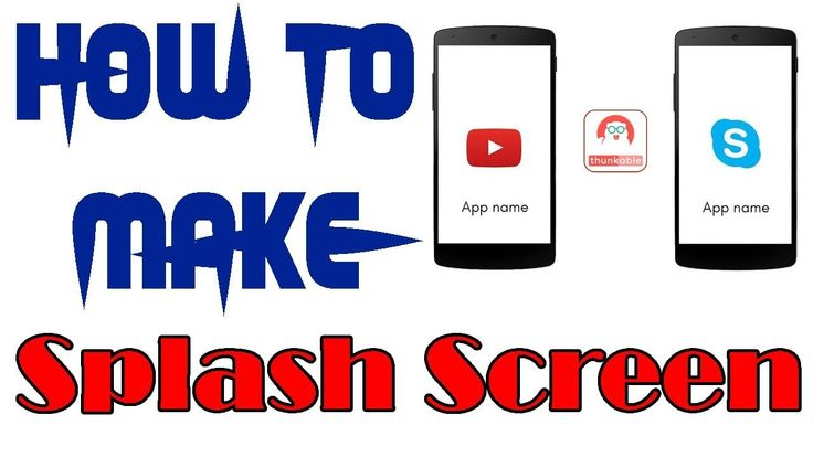 How to make splash screen in thunkable with aia file