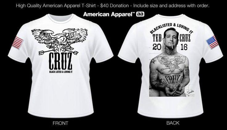 Ted Cruz Black listed & Loving it TShirt by unsavoryagents on Etsy, $40.00