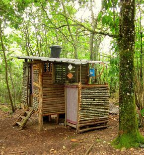 Compost toilet and shower mark2 by hardworkinghippy, via Flickr