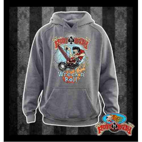 Jump and rock and roll with Ruff n Ready Hooded Jumper  #rockabillyautumn #RuffnReadyAus #AutumnFashion #WrecknRollHoodedJumper #hoodedjumper #fashionstatement