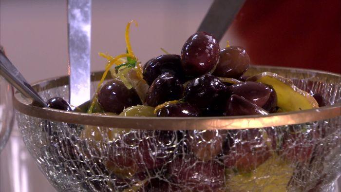 Marinoidut oliivit.
