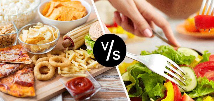 Junk VS healthy. How to keep balance? #health #junkfood  bit.ly/2i9jq3X