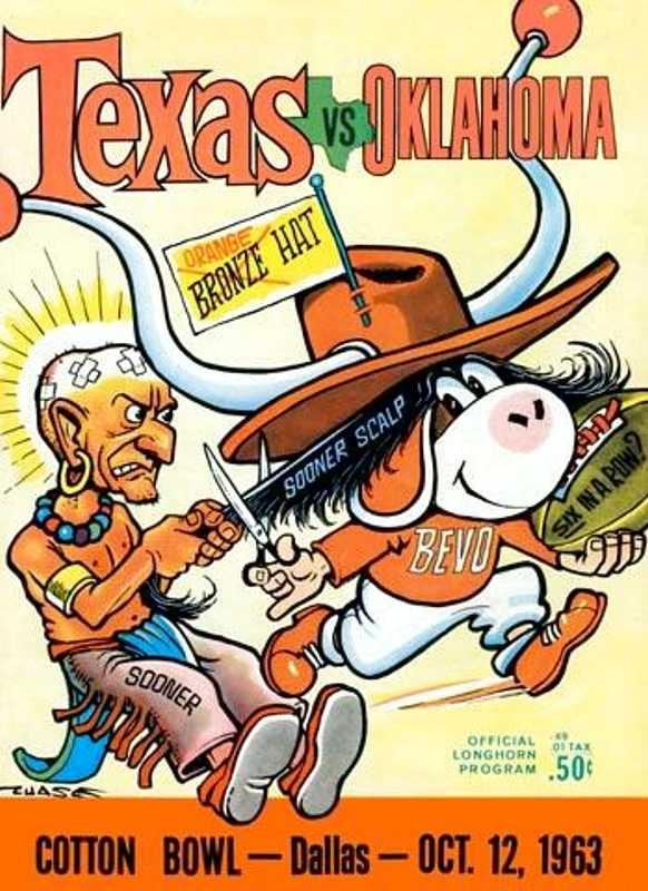 1963 Oklahoma Football Game Program vs. Texas