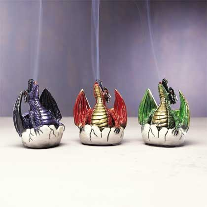 dragon incense burners --  cute