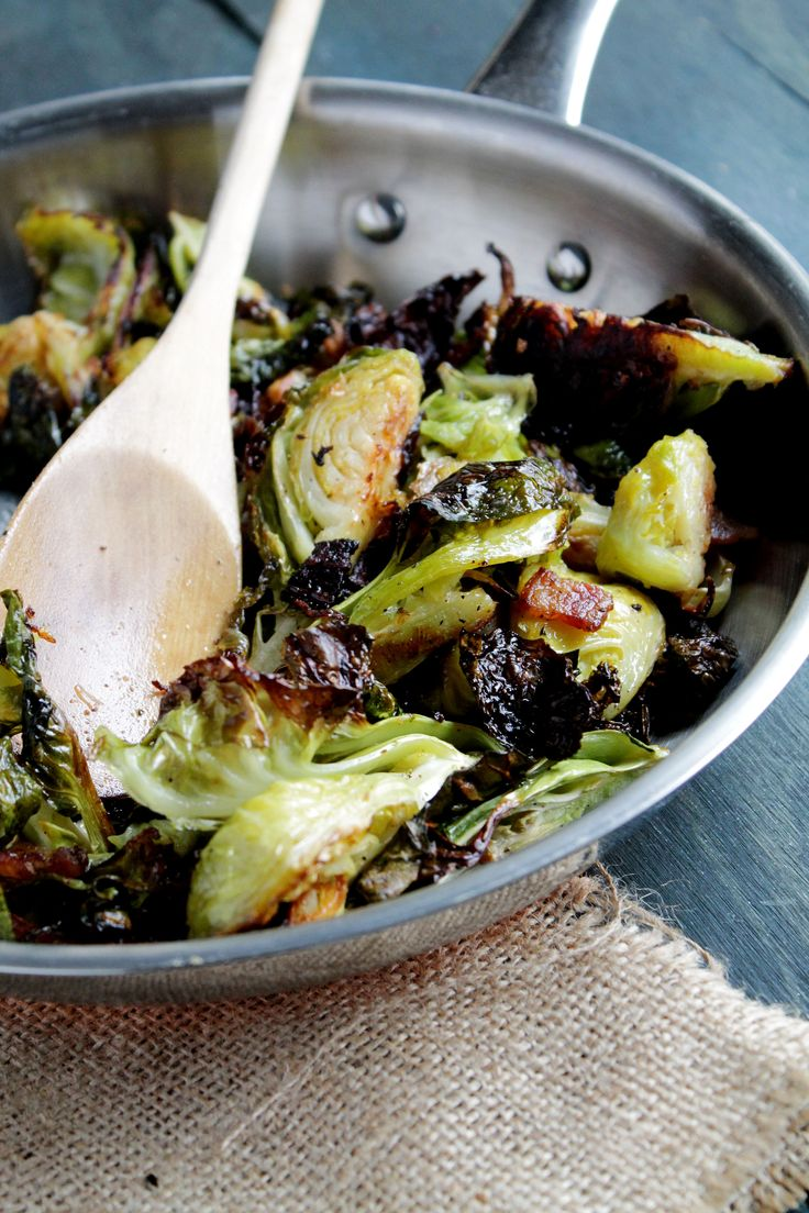 Roasted Brussels Sprouts with Bacon | Recipe