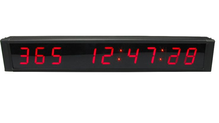 """[GANXIN]1"""" 9 Digits LED Days Countdown Timer Count up to 1000 Days Max Digital Clock With Ir Remote Control Red Color"""