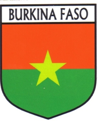 BURKINA FASO Flag Country BURKINA FASO Flag Sticker