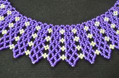 """Indigo"" Netting necklace. Maybe volume down, but still clear. ~ Seed Bead Tutorials"