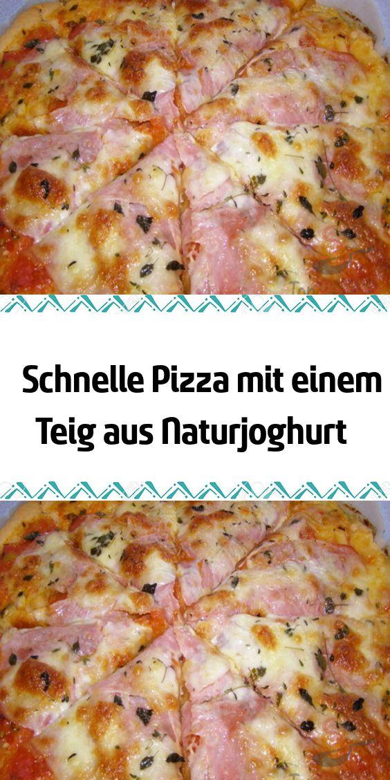 Schnelle Pizza mit einem Teig aus Naturjoghurt