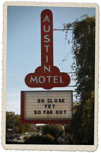 Austin Texas Mikayla Neon: Austin Motel, Vintage Store