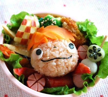 Ponyo bento, studio ghibli food #StudioGhibli #HayaoMiyazaki @HayaoMiyazaki @StudioGhibli
