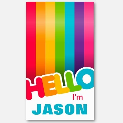 Rainbow striped #businesscard, great for personal use as well!