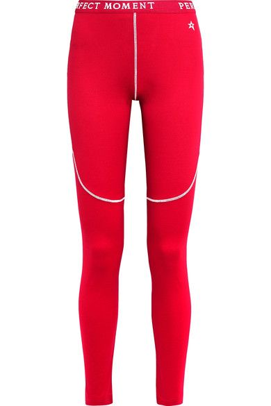 Perfect Moment - Stretch-jersey Ski Leggings - Red - large
