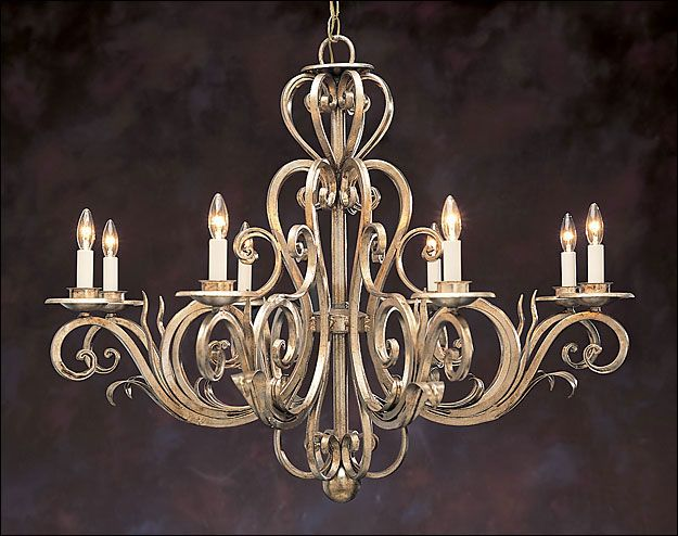 Eight-light Hand-wrought Iron Chandelier with Scroll Motif - $4,125.00 : Home Decor, Furniture, Lighting & Accessories, emonili.com