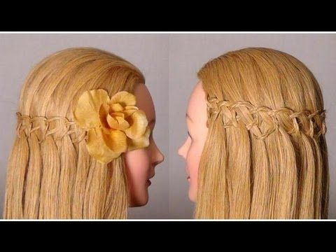 I <3 this kind of waterfall braid. Thank God there was a video for this one. It would have been really difficult to figure it out without it =)