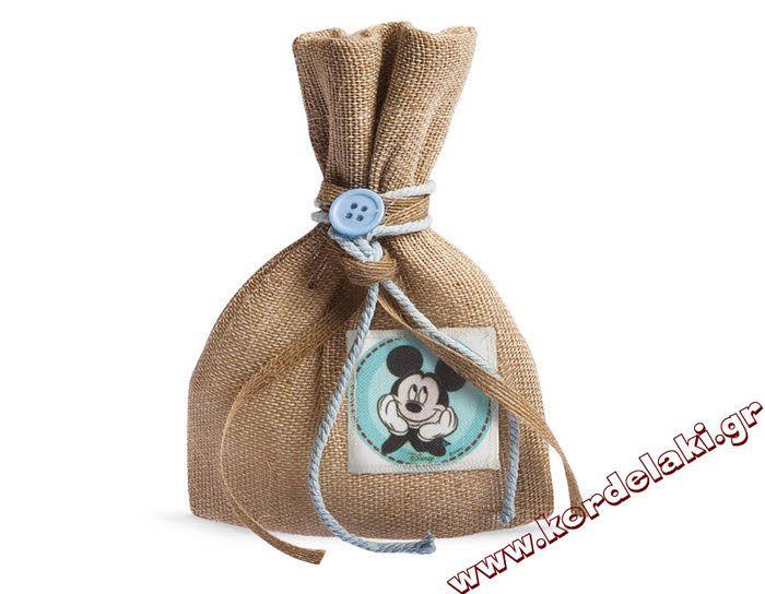 Πουγκί Mickey mouse για μπομπονιέρες γάμου και βάπτισης
