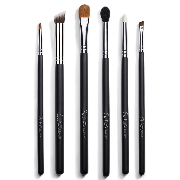 The Essential Eye Kit contains six brushes perfect for applying, blending, shading and precision. Suva Beauty's pro team carefully curated the perfect selection