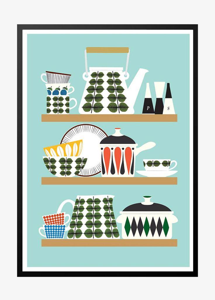 9 best plakater til k kkenet images on pinterest retro posters kitchen art and stig lindberg. Black Bedroom Furniture Sets. Home Design Ideas