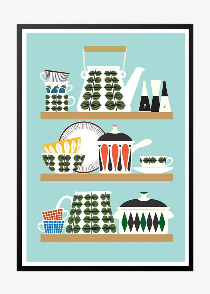Stig Lindberg design plakat