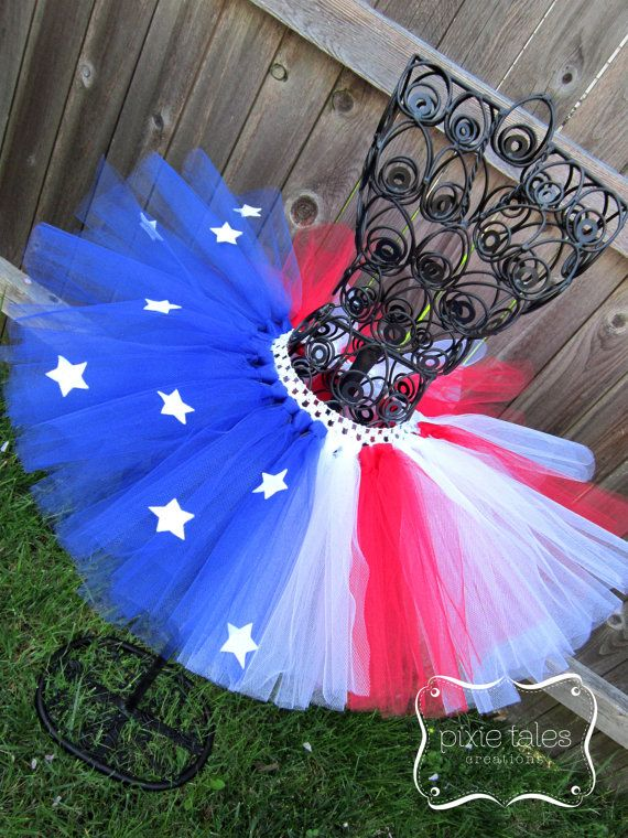 Flag tutu American Flag tutu Red White and by PixieTalesCreations
