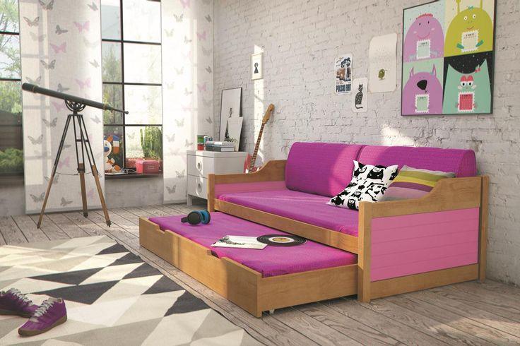 Kinder-Doppelbett Tobias Erle - 8 Farben mit 10 verschiedenen Dekorfarben und 2 unterschiedlichen Größen zur Auswahl Diese Kinderbetten unterscheiden sich von anderen in... #kinder #kinderzimmer #kinderbett #doppelbett