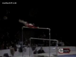 Gymnastics like a boss…omg!