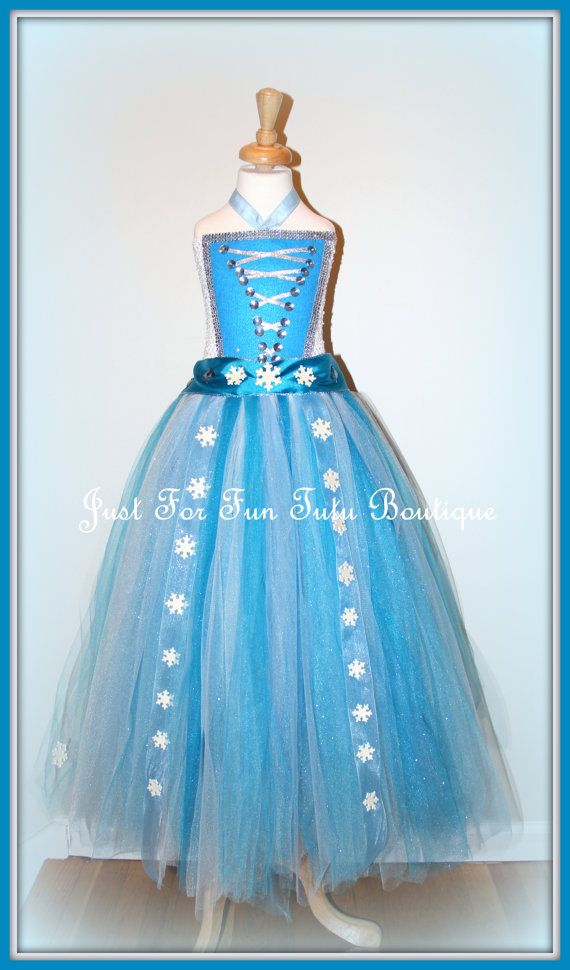 Elsa frozen dress Elsa tutu Frozen tutu Disney by Justforfuntutu
