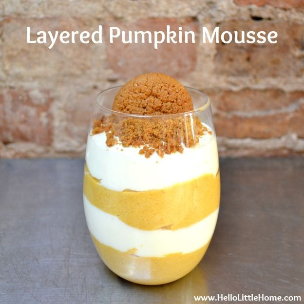 Layered Pumpkin Mousse