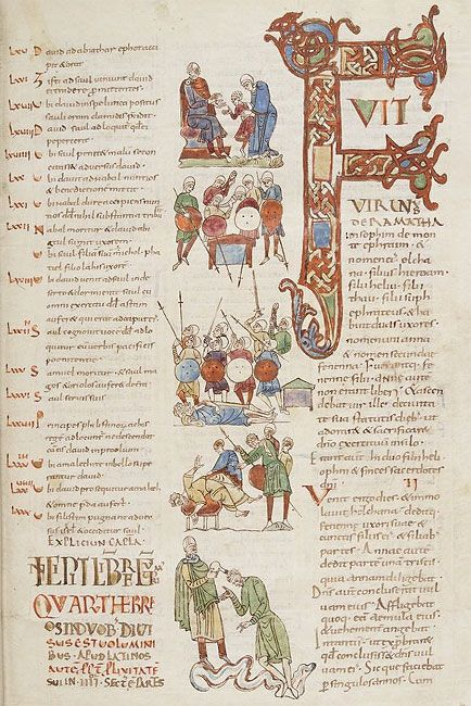 Bíblia de Sant Pere de Rodes Bíblia de Sant Pere de Rodes Malgrat que no hi ha unanimitat en la seva datació, possiblement es tracta d'una Bíblia escrita i il·lustrada en la seva major part entre els anys 1010 i 1025, encara que la seva elaboració es va allargar en el temps i hi van participar diverses mans.