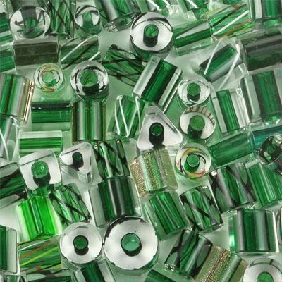 Green Furnace Glass Beads