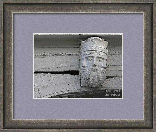 Sculpture Framed Print featuring the photograph Head With Three Faces by Sverre…