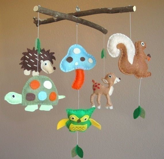 17 best images about baby boy nursery on pinterest foxes for Woodland animals nursery mobile
